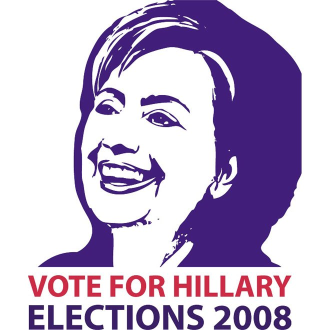 660x660 Hillary Clinton Election Candidate Free Vector 123freevectors