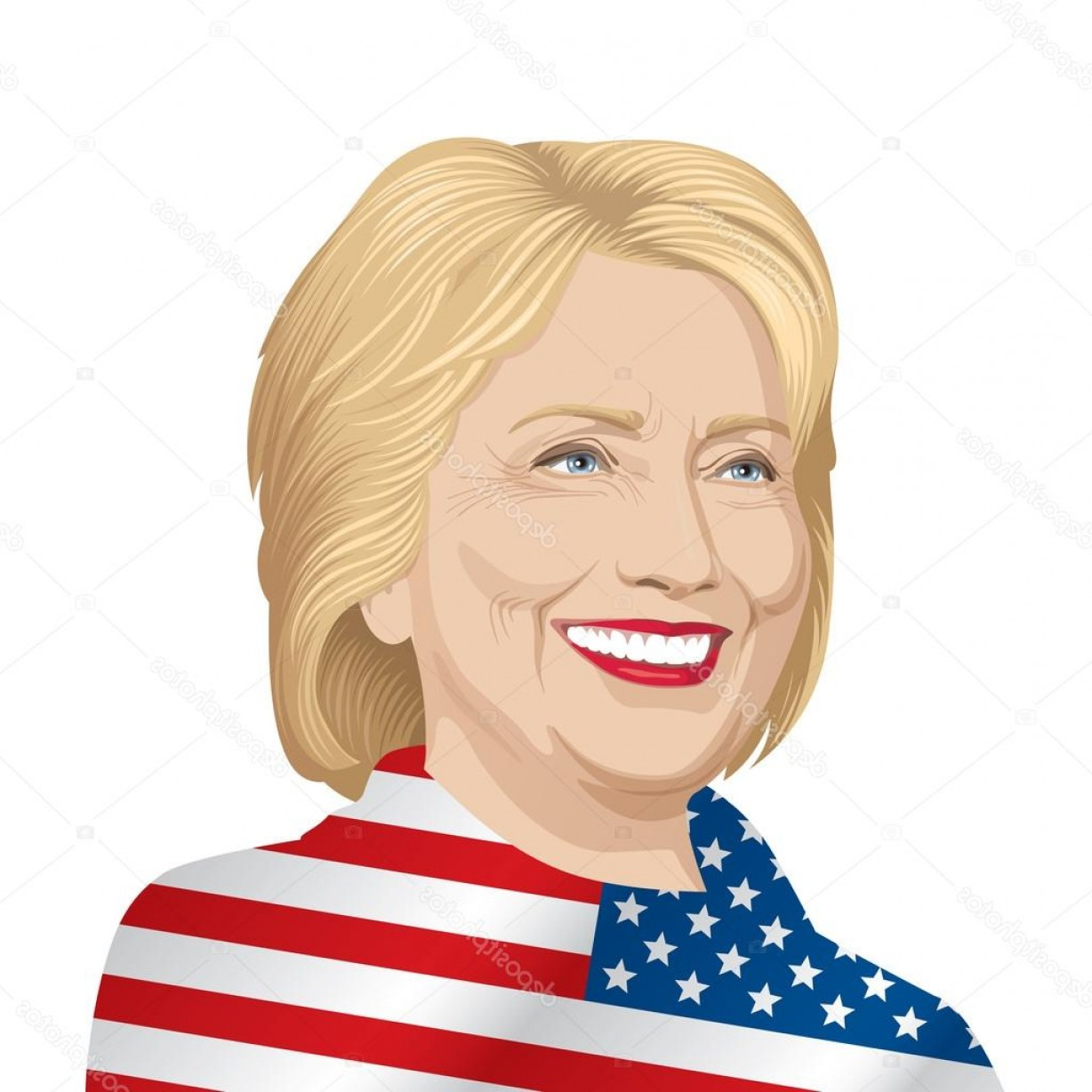 1228x1228 Hillary Clinton Vector Arenawp