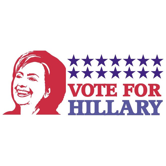 660x660 Vote For Hillary Clinton Free Vector 123freevectors