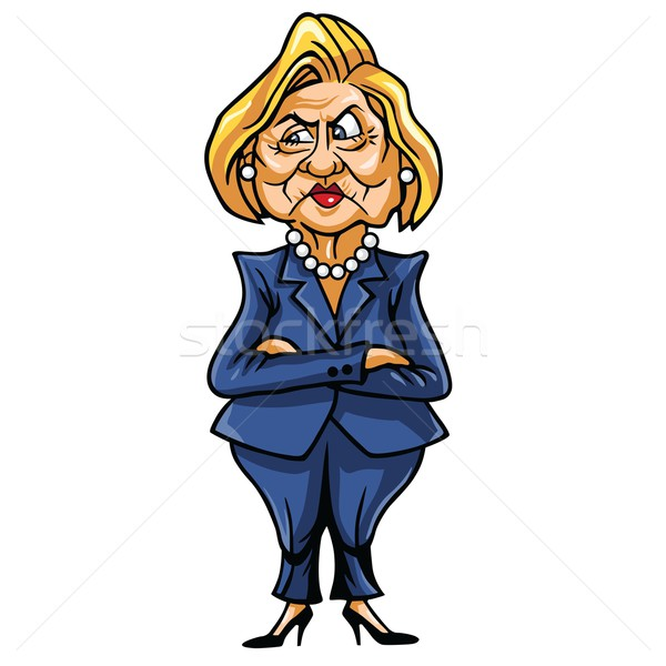 600x600 Caricature Of Hillary Clinton, United States Democratic
