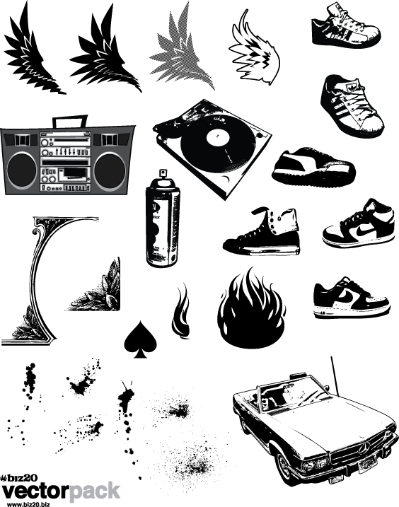 564x717 Hip Hop Vector Pack Shirts Hip Hop