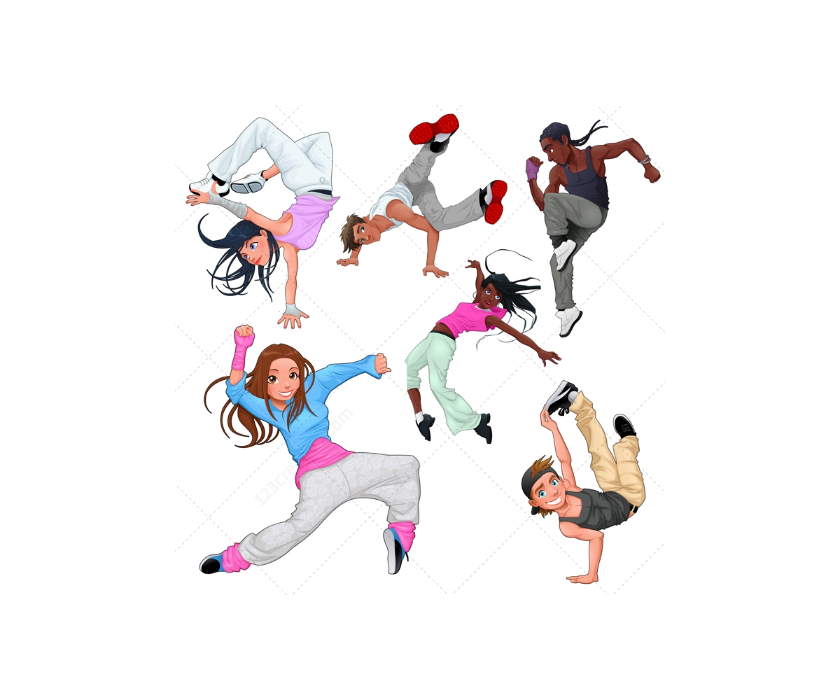 1200x1000 Breakdance Vector Characters