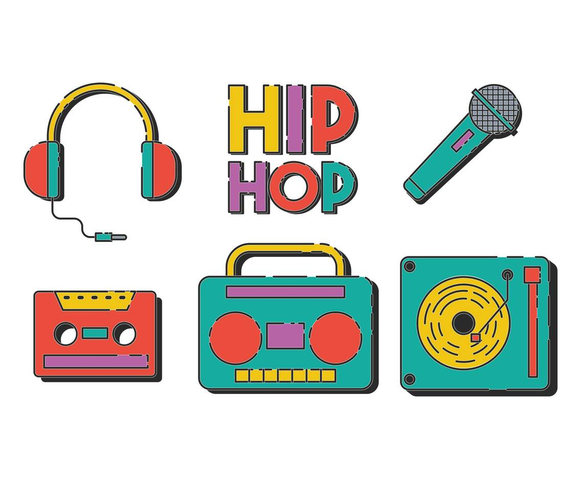 1136x936 Hip Hop Vector Set Vector Art Amp Graphics
