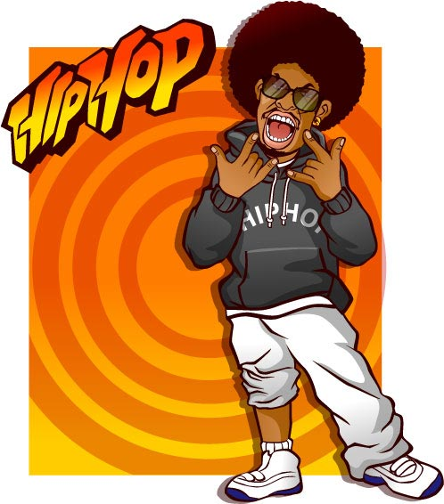 498x566 Hip Hop Vector Templates
