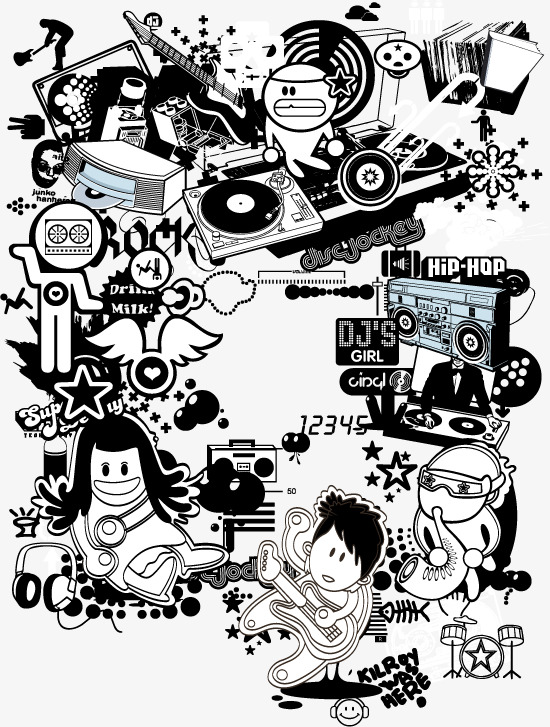 550x727 Vector Creative Hip Hop Style, Vector, Hip Hop, Decoration Png And