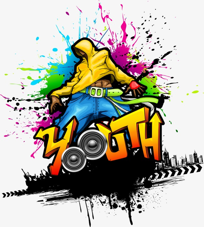 650x722 Vector Illustration Hip Hop Youth, Hip Hop Youth Illustration, Hip