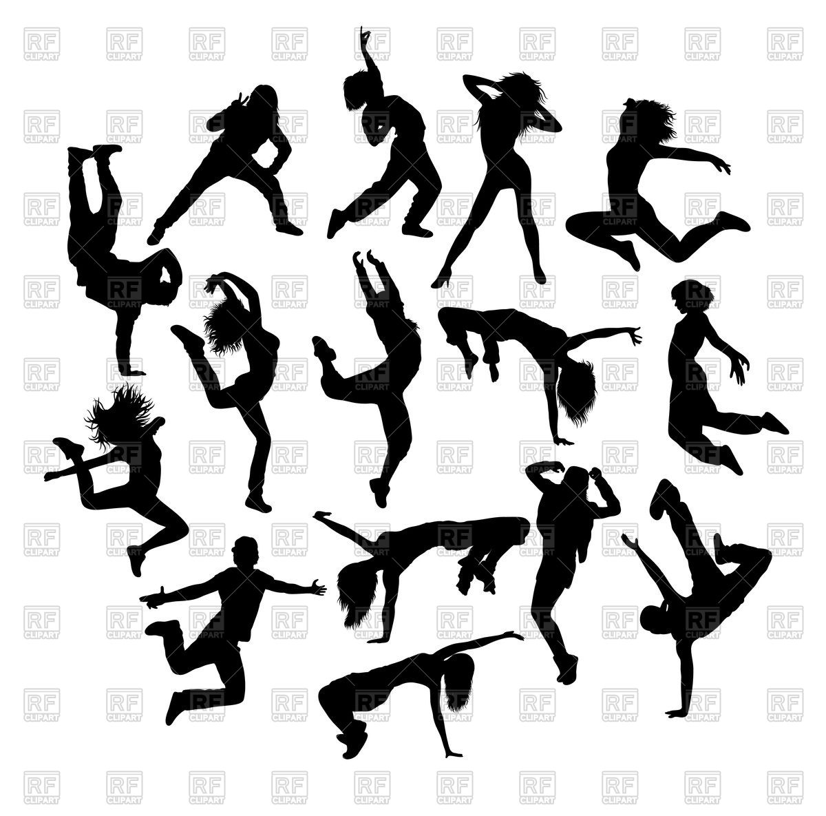 1200x1185 Cool Dancing Activity Silhouettes