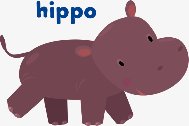 650x435 Purple Hippo Vector, Hand Painted, Purple, Tail Png And Vector For