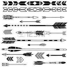 236x236 Hipster Arrows Abstract Elements For Tattoo And Vector