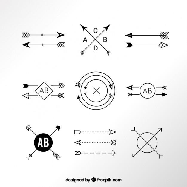 626x626 Modern Arrow Logos Vector Free Download