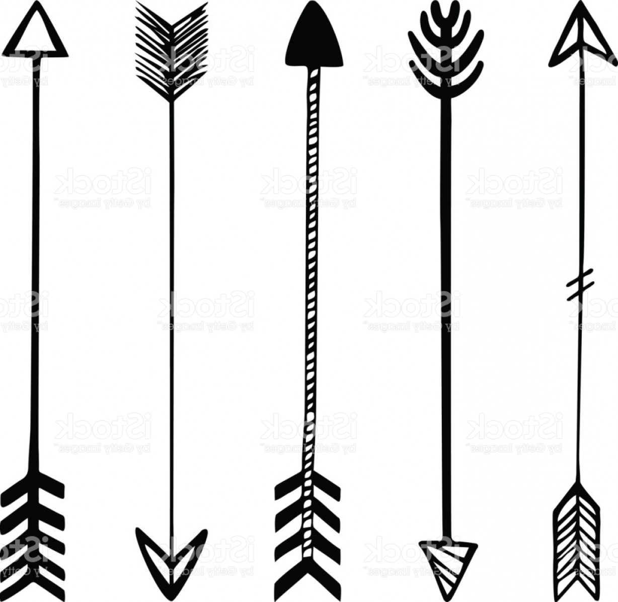 1228x1196 Set Of Black Hand Drawn Arrows Hipster Ethnic Vector Elements Gm