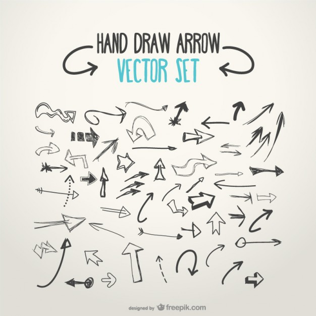 626x626 Sketchy Arrows Collection Vector Free Download