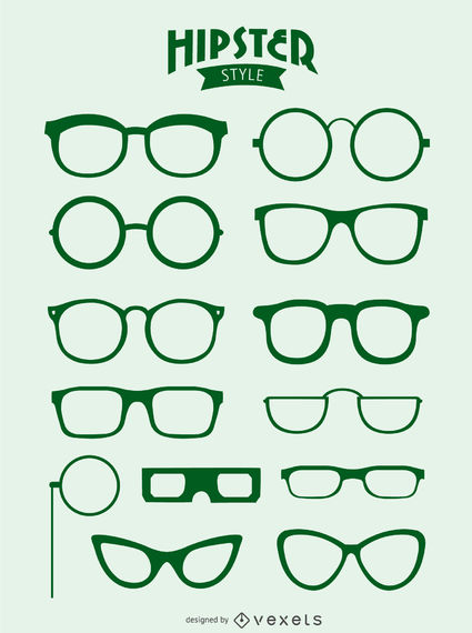 Hipster Glasses Vector