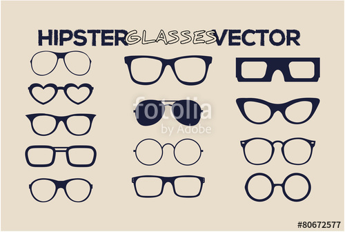 500x336 Fashion Hipster Glasses Vector Style Stock Image And Royalty Free
