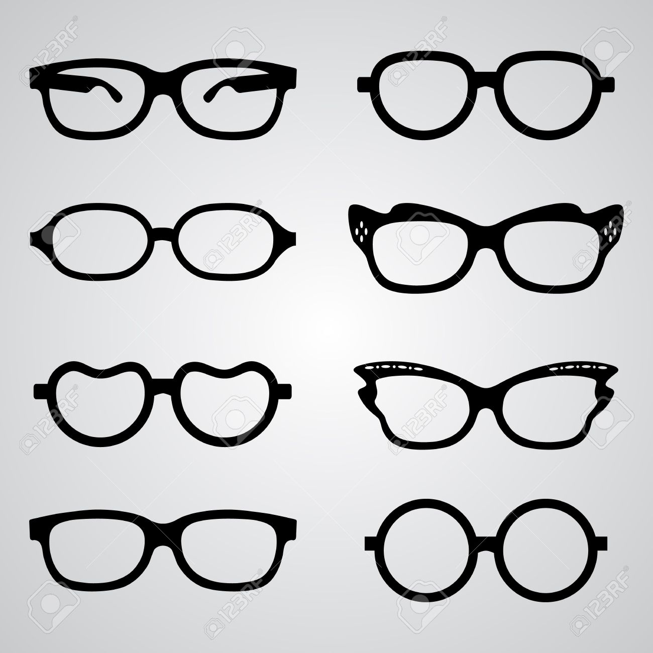 1300x1300 Hipster Clipart Shades Vector