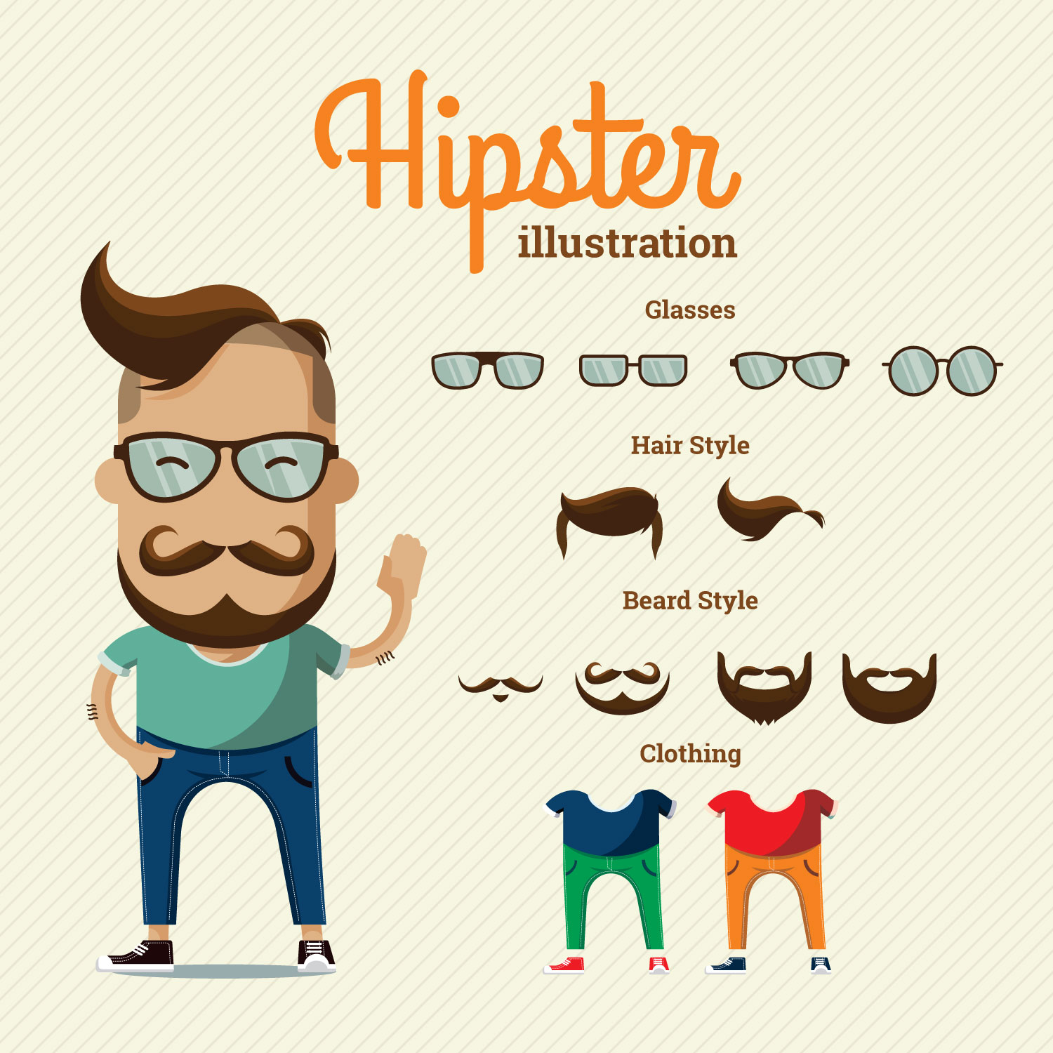 1500x1500 Hipster Glasses Free Vector Art