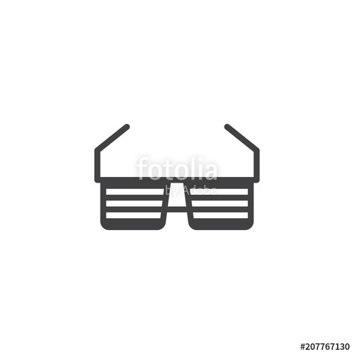 500x500 Hipster Glasses Vector Icon. Filled Flat Sign For Mobile Concept