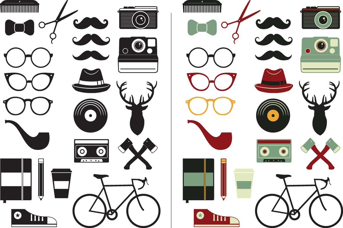 1200x797 Hipster Vector Elements Set Free Download
