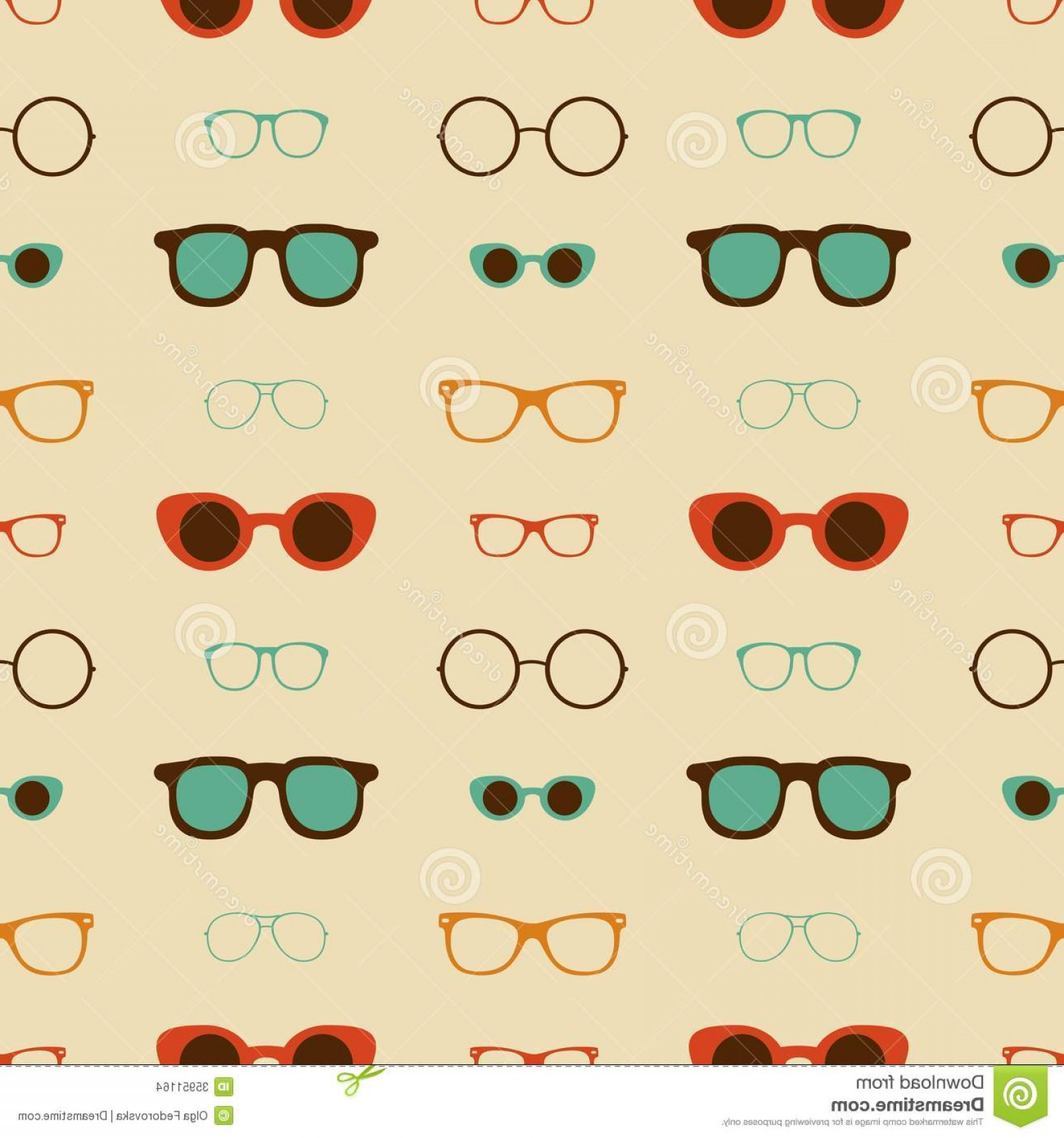 1560x1668 Stock Images Hipster Glasses Vector Seamless Pattern Illustration