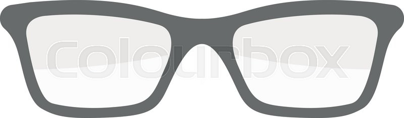 800x235 Vector Fashion Glasses Isolated On White. Fashion Glasses. Hipster