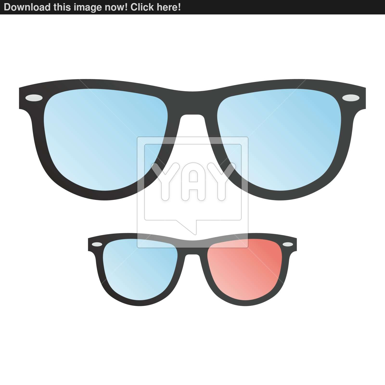 1600x1600 Classic And Three Dimensional Hipster Glasses Vector (Cinema, Tv