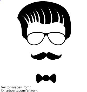 335x355 Download Hipster Face With Bowtie