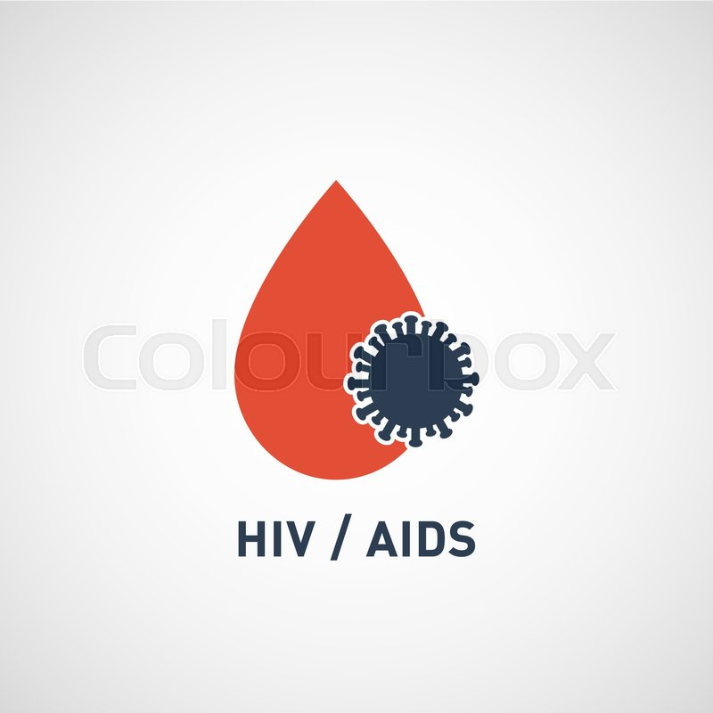 800x800 Hiv Aids Virus Logo Vector Icon Design Stock Vector Colourbox