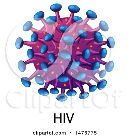 450x470 Clipart Of A Hiv Virus