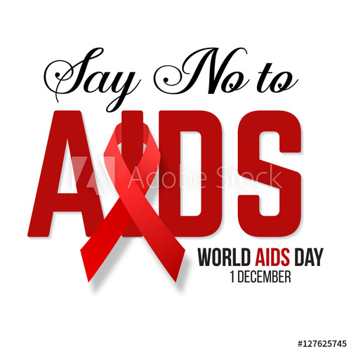 500x500 Vector Illustration Of Hiv,aids Awareness.