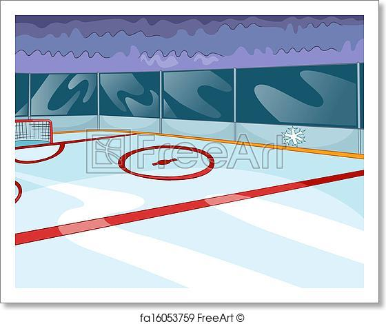 560x470 Free Art Print Of Hockey Rink. Hockey Rink. Vector Cartoon