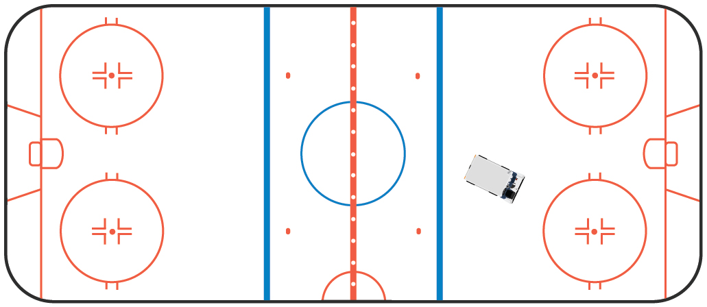 1031x448 Hockey Rink And Ice Cleaner No Cost Royalty Free Stock