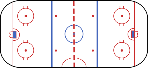 500x232 Hockey Rink Vector Clip Art Public Domain Vectors