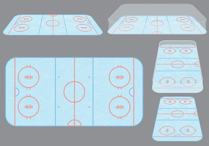 700x490 Ice Hockey Rink Vectors
