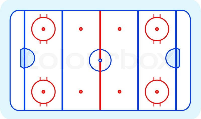 800x475 Ice Hockey Field Blue Greetings Card Vector Stock Vector Colourbox