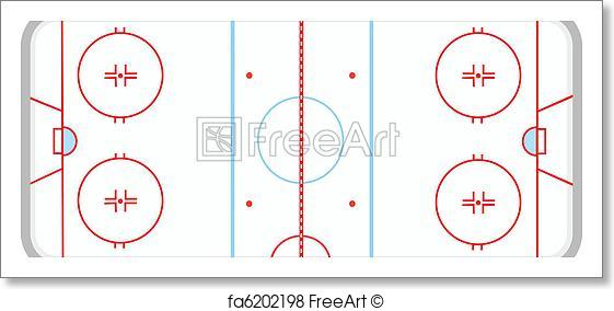 561x284 Free Art Print Of Ice Hockey Rink. Vector Illustration Of Ice