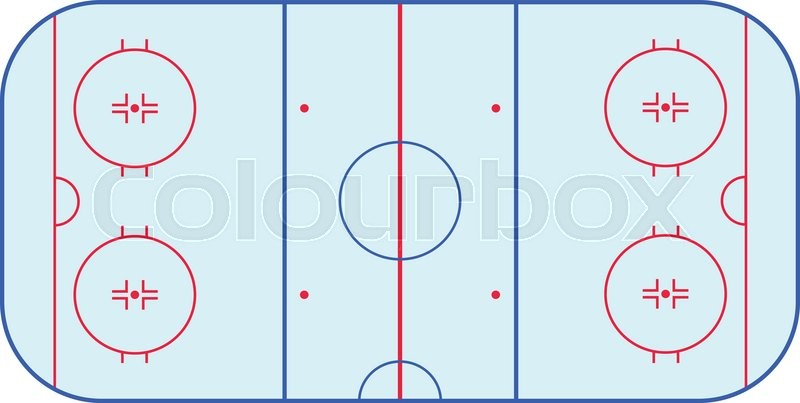 800x403 Ice Hockey Rink Field Playing Infographics, Flat, App, Nhl Stock