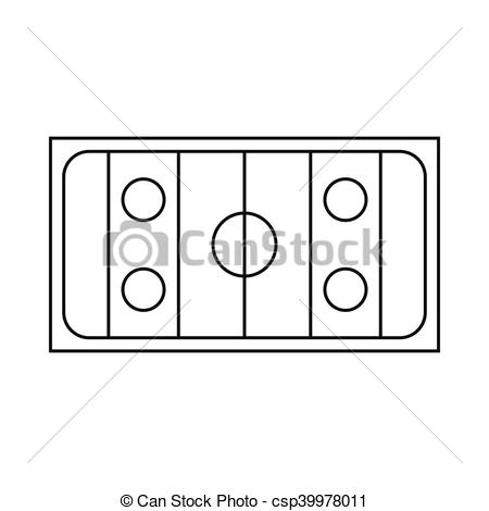 450x470 Ice Hockey Rink Icon, Outline Style. Ice Hockey Rink Icon In