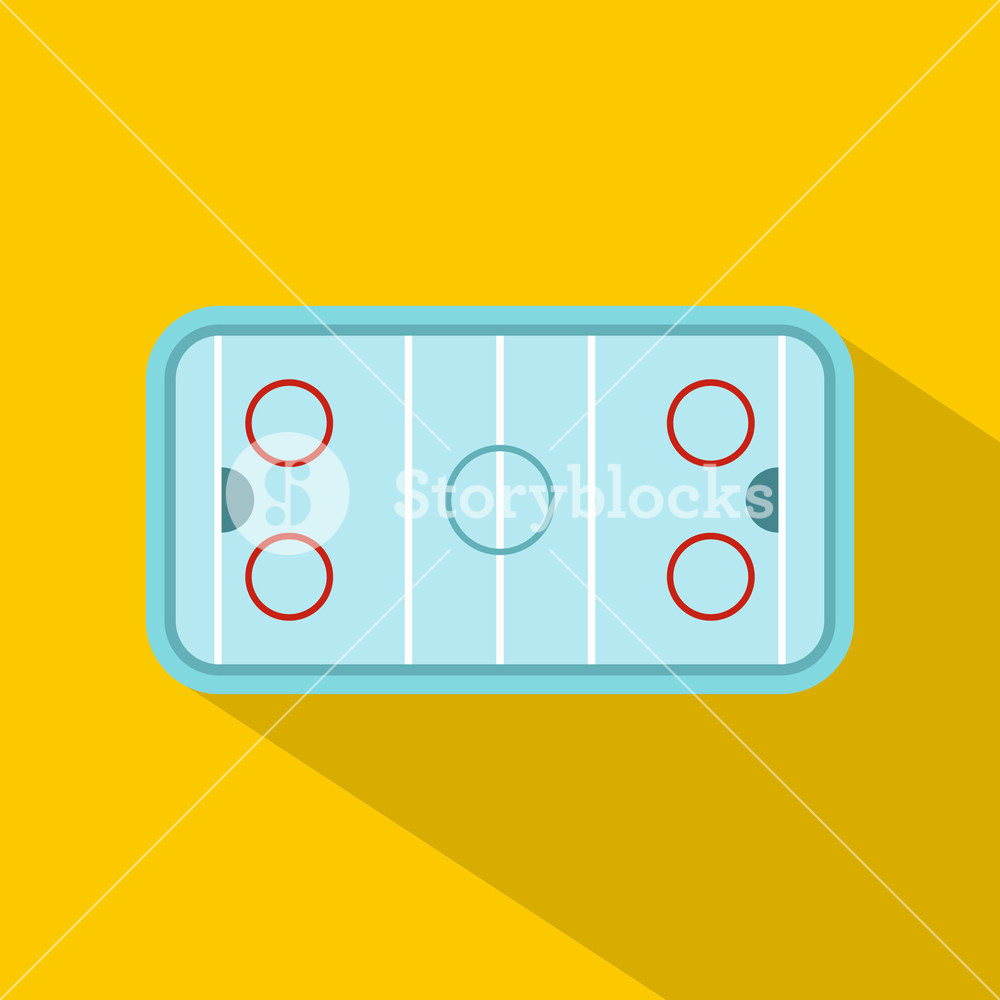1000x1000 Ice Hockey Rink Icon. Flat Illustration Of Hockey Rink Vector Icon