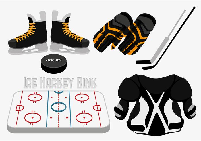 700x490 Ice Hockey Rink Vector