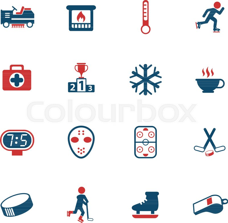 800x780 Ice Rink Vector Icons For Web And User Interface Design Stock