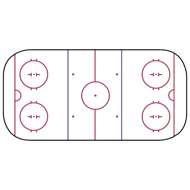 660x660 Hockey Rink Vector Image