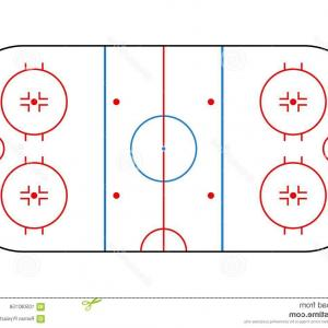 300x300 Vector Ice Hockey Rink Textures Blue Top View Illustration