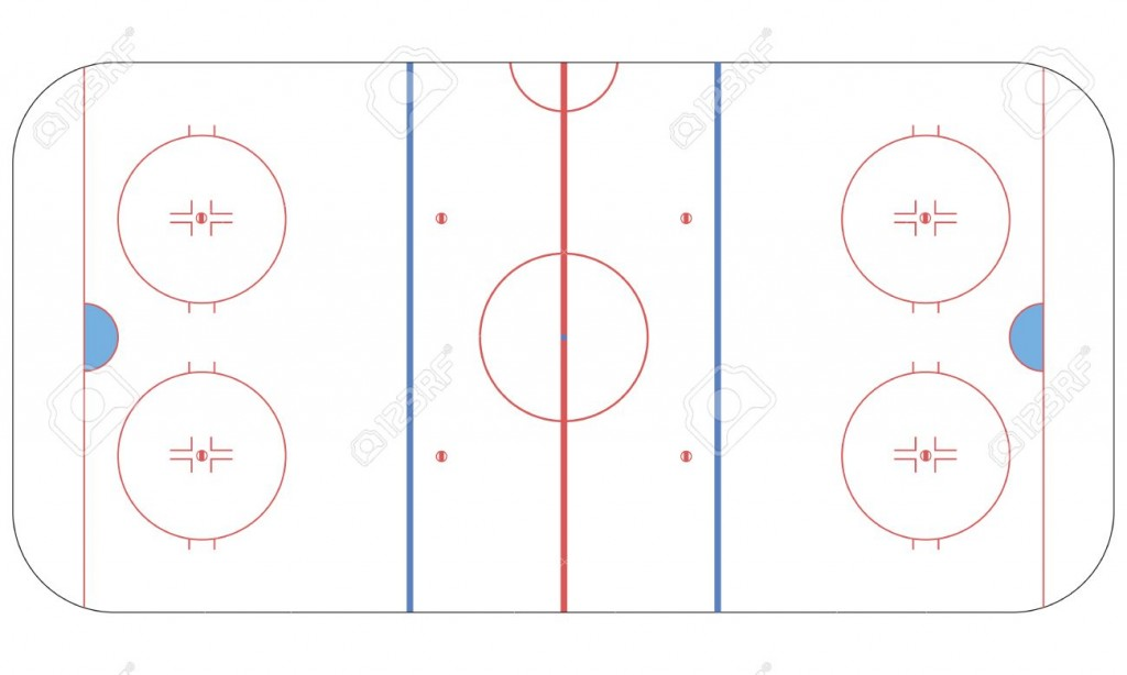 1024x614 Diagrams Ice Hockey Rink Flat Royalty Free Cliparts, Vectors, And