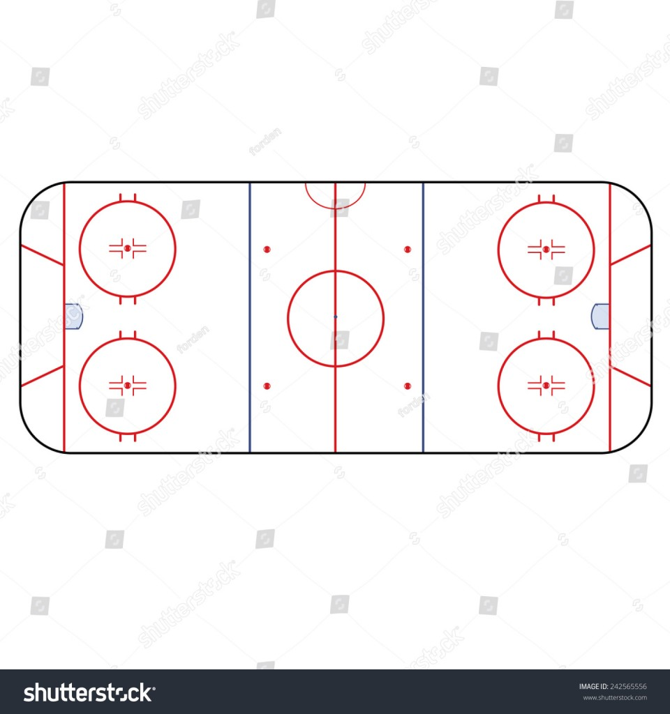 960x1024 Diagrams Ice Hockey Rink Playing Field Hockey Stock Vector