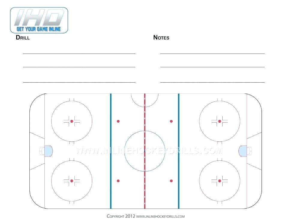 960x742 Half Hockey Rink Diagram Printable