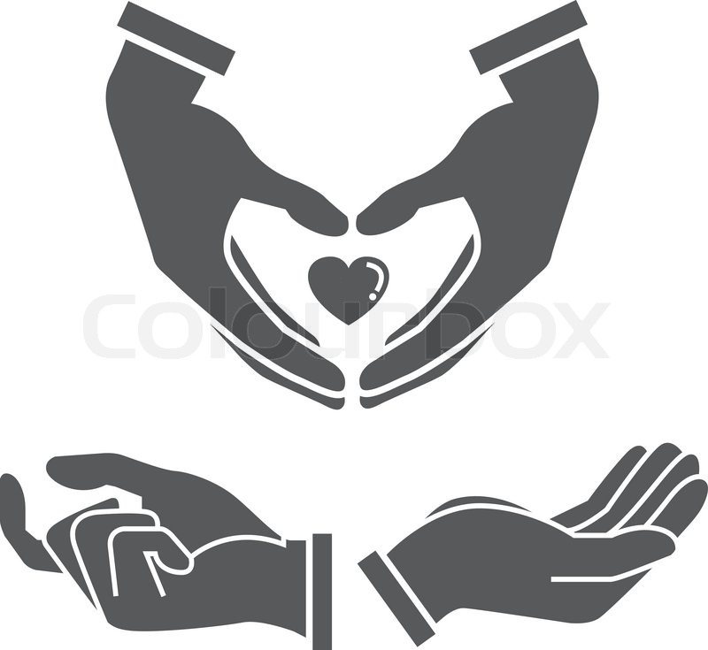 800x735 Hand Holding Heart, Hand Gesture Icons, Silhouette Hand Stock