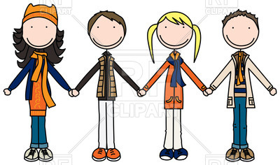 400x236 Kids Holding Hands Vector Image Vector Artwork Of People