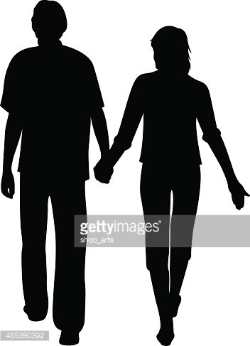 352x487 Man And Woman Holding For Hands Vector Stock Vectors