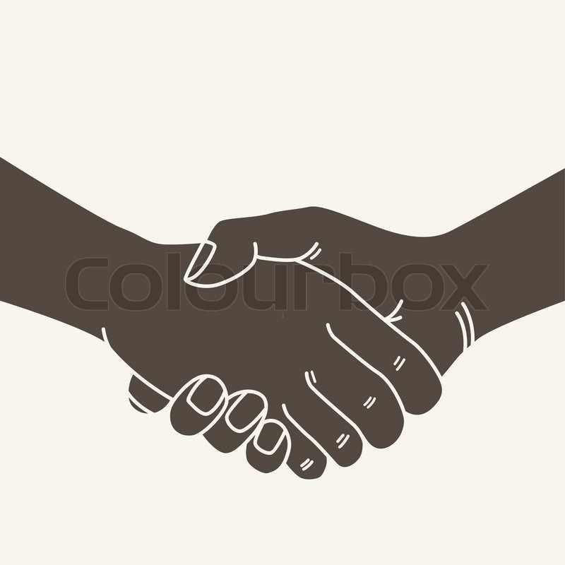 800x800 Shake A Hand Vector Illustration Stock Vector Colourbox