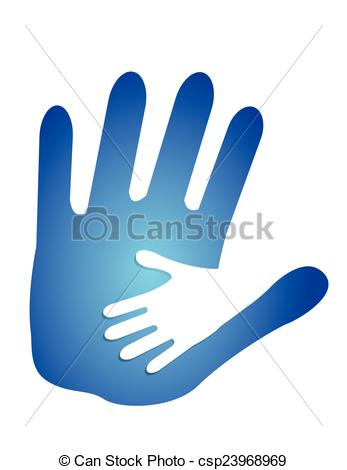 347x470 Daddy And Son Holding Hands. Illustration Design Over A White